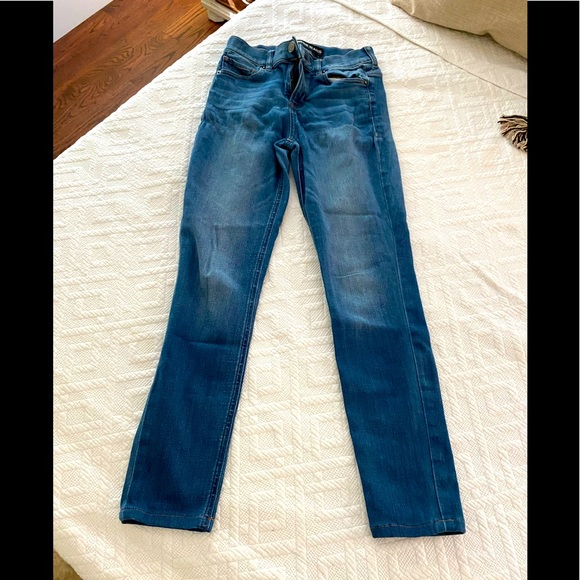 Express high waisted skinny jeans